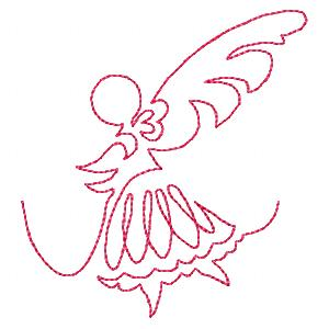 Continuous Line Fairies Quit Embroidery Designs